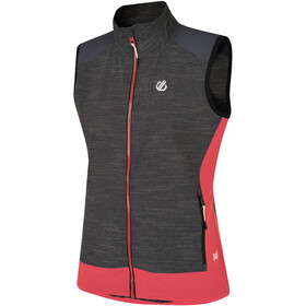 Dare 2b Duality II Vest Damer, charcoal grey marl/fiery coral